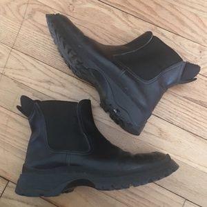 Vintage black prada ankle boots